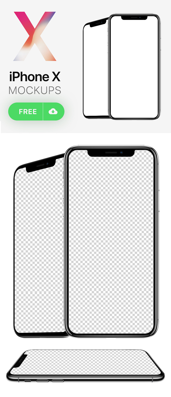 Free Download iPhone X PSD Mockups and Sketch - 17
