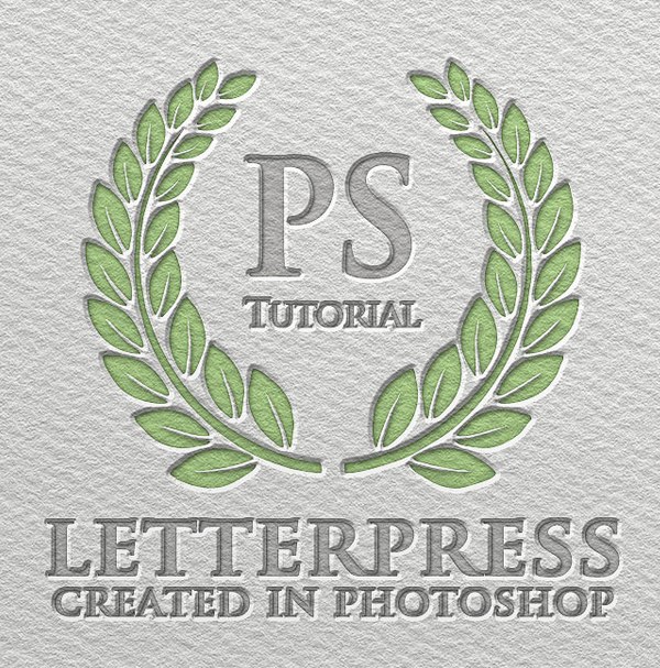 How to Create Letterpress Text Effect Photoshop Tutorial