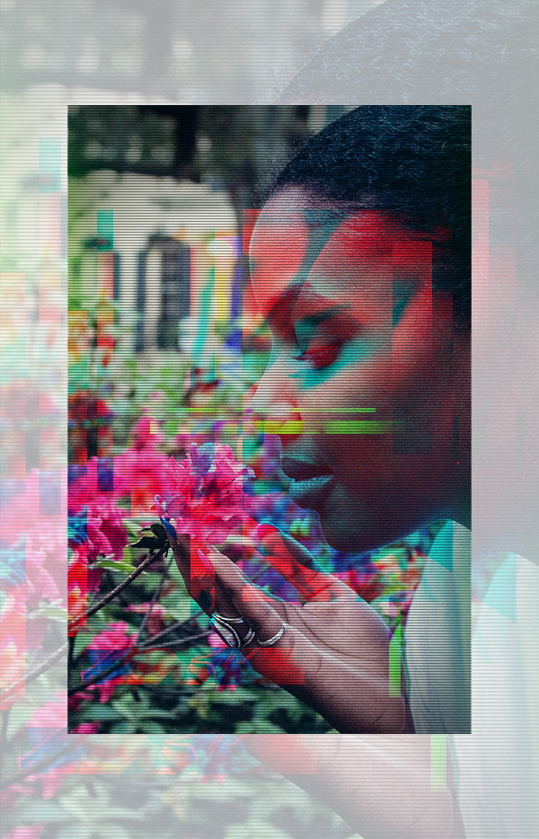 How to Create an Editable Animated RGB Glitch Effect in Adobe Photoshop