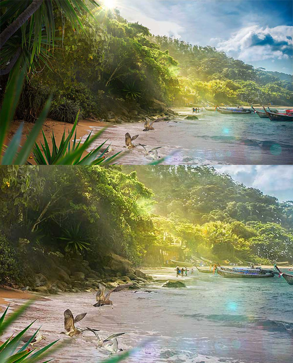 Learn How to Create Beautiful Tropical Landscape in Photoshop