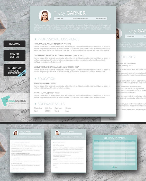 Go Team! Premium Resume Template Set