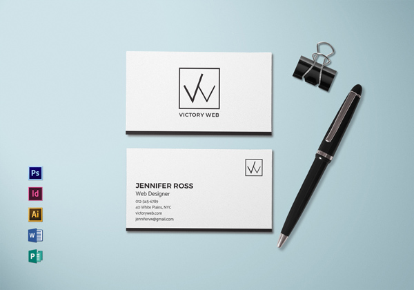 Simple Minimal Business Card Template