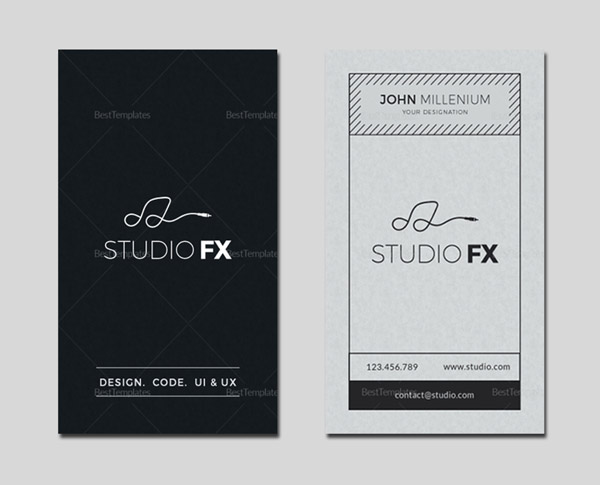 Studio Business Card Template