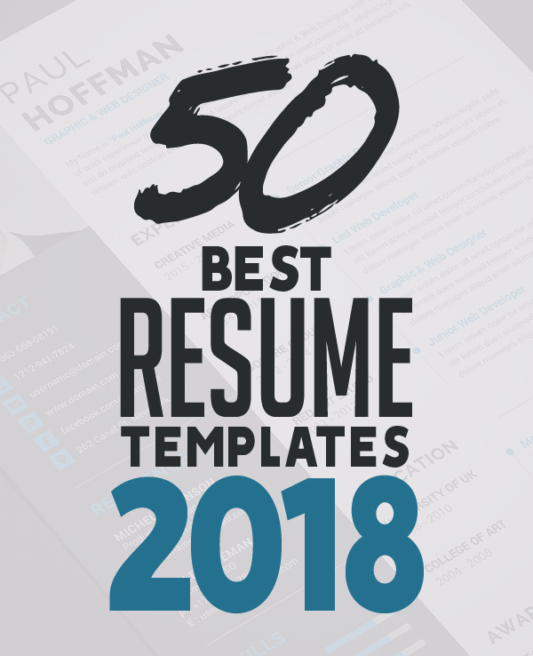50 Best Resume Templates For 2018