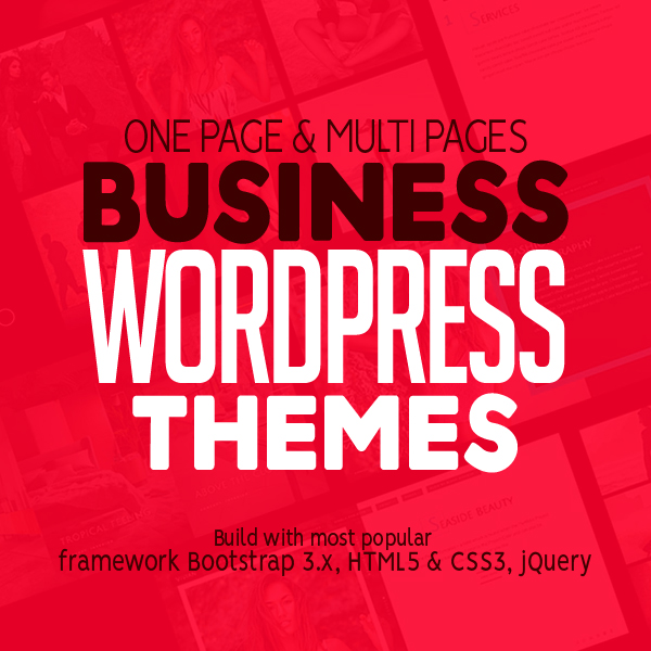 25 One Page & Multi Pages Business WordPress Themes