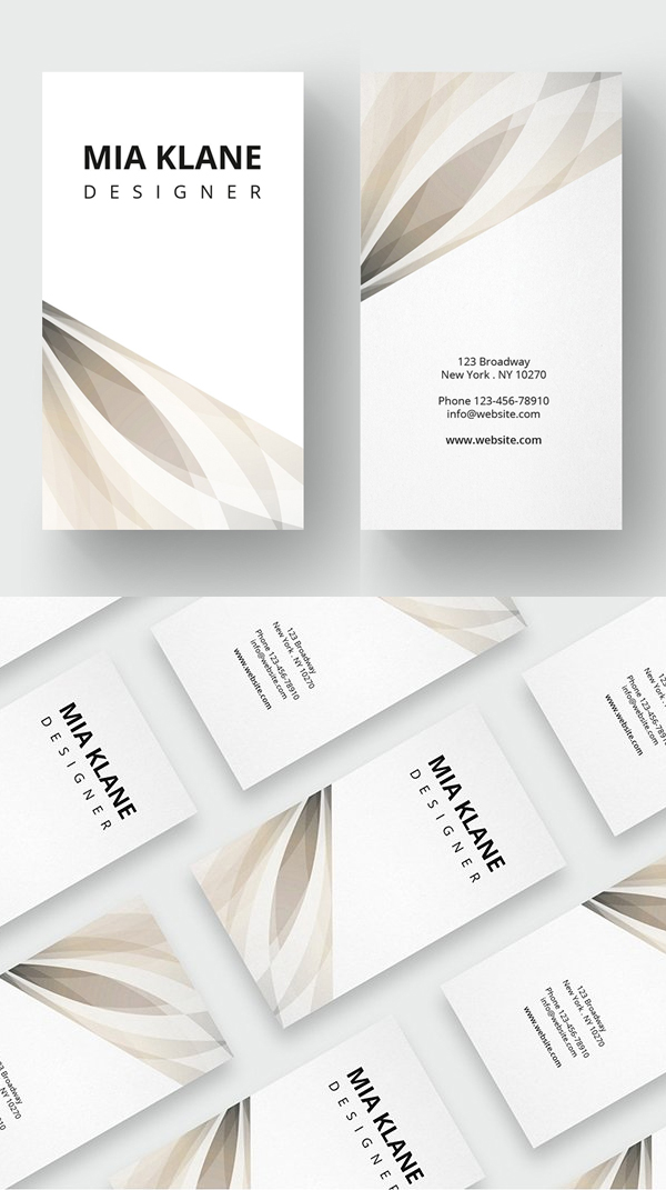 Luxury Clean Business Card Template