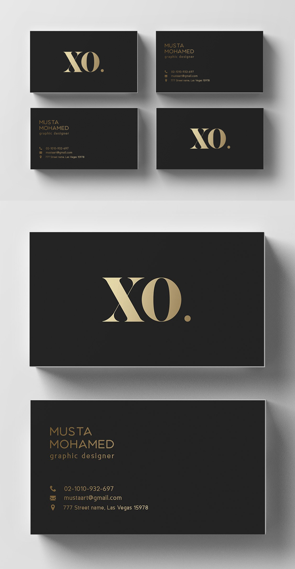 Minimal Black & Gold Business Card