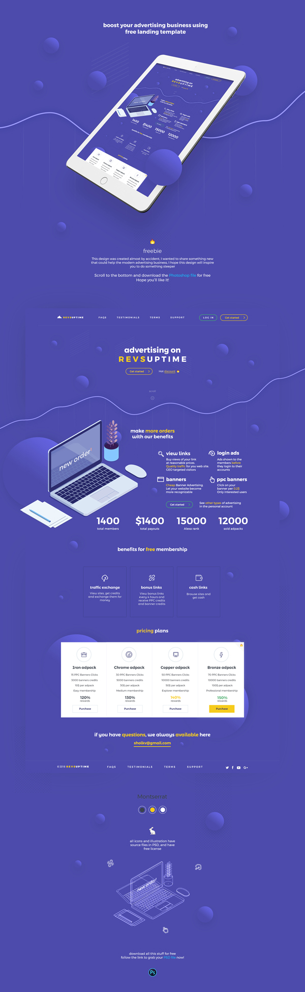 Free Advertising Landing Page Template