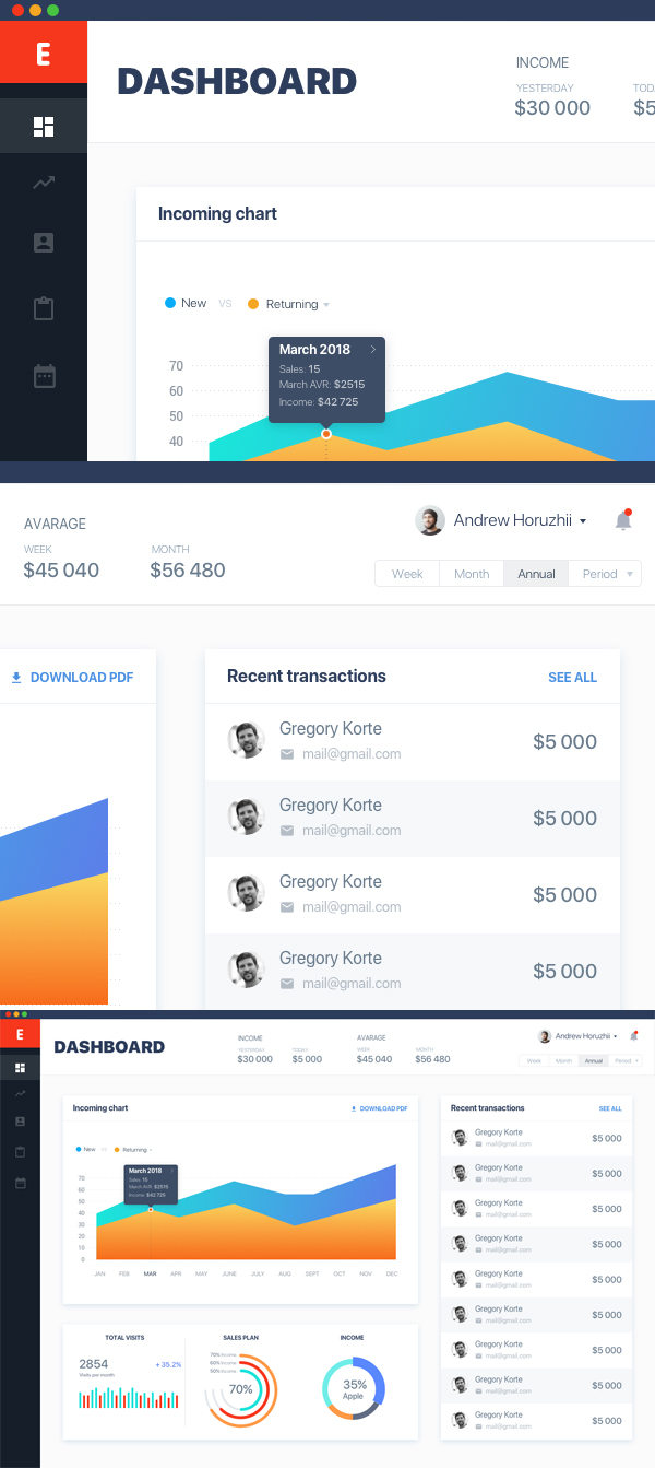 Free Dashboard UI Sketch