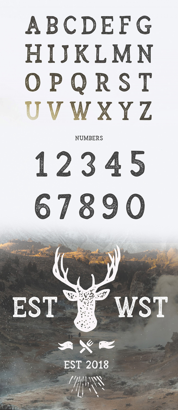 Arber Font Letters and Numbers