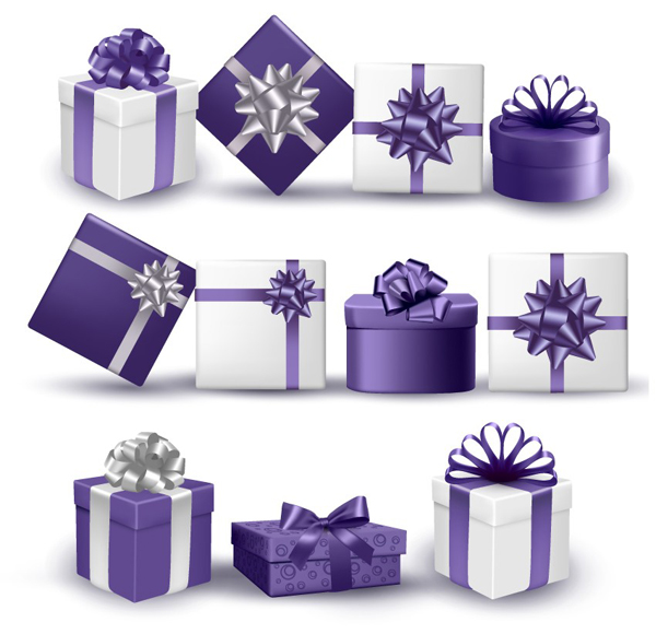 How to Draw an Ultra Violet Collection of Presents in Adobe Illustrator