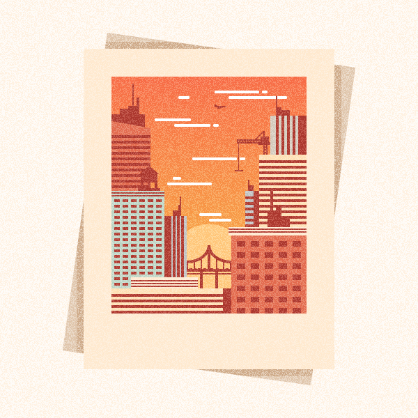 How to Create a Textured City Snapshot Illustration in Adobe Illustrator