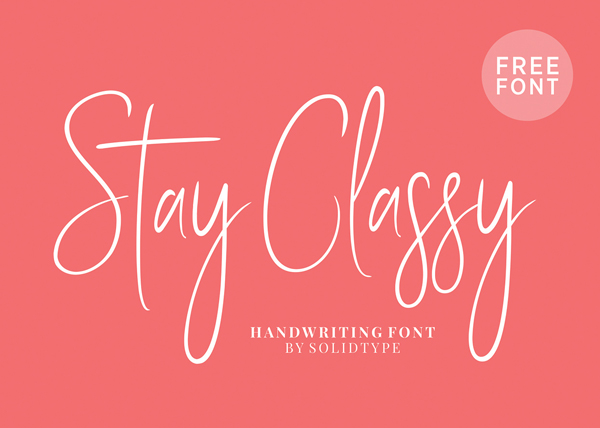 Stay Classy Free Font