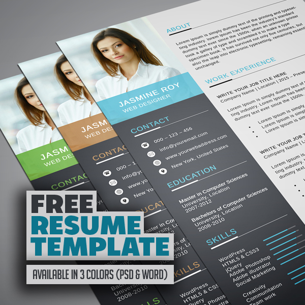 Freebie – Clean CV/Resume Template