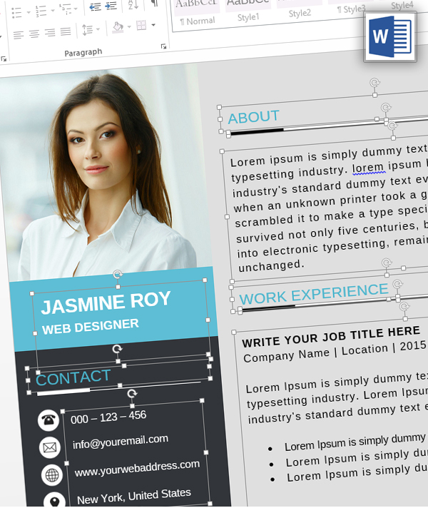 MS Word – Clean CV/Resume Template