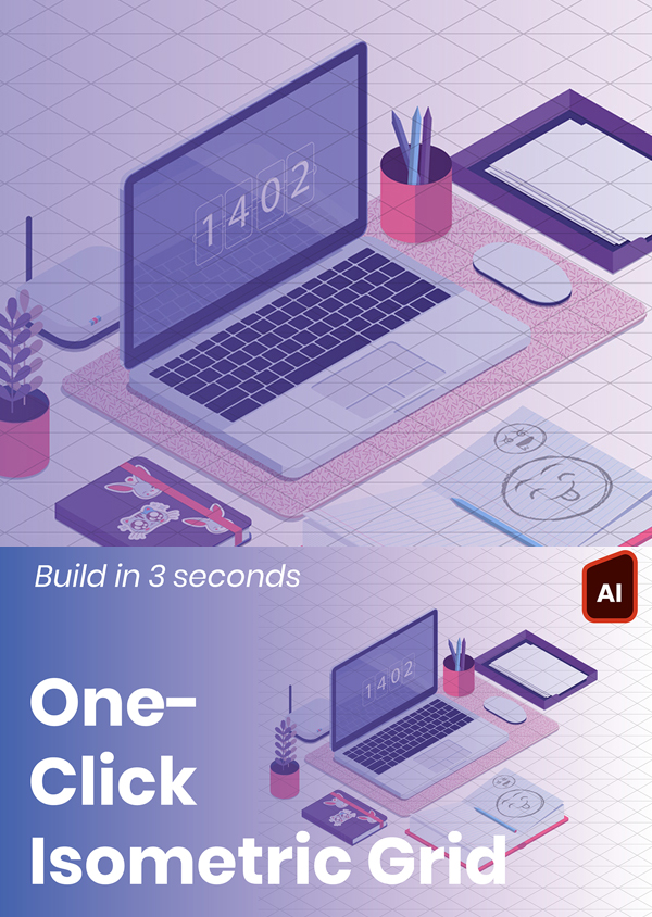 Freebie: Isometric Grid Builder Lite Illustration Action