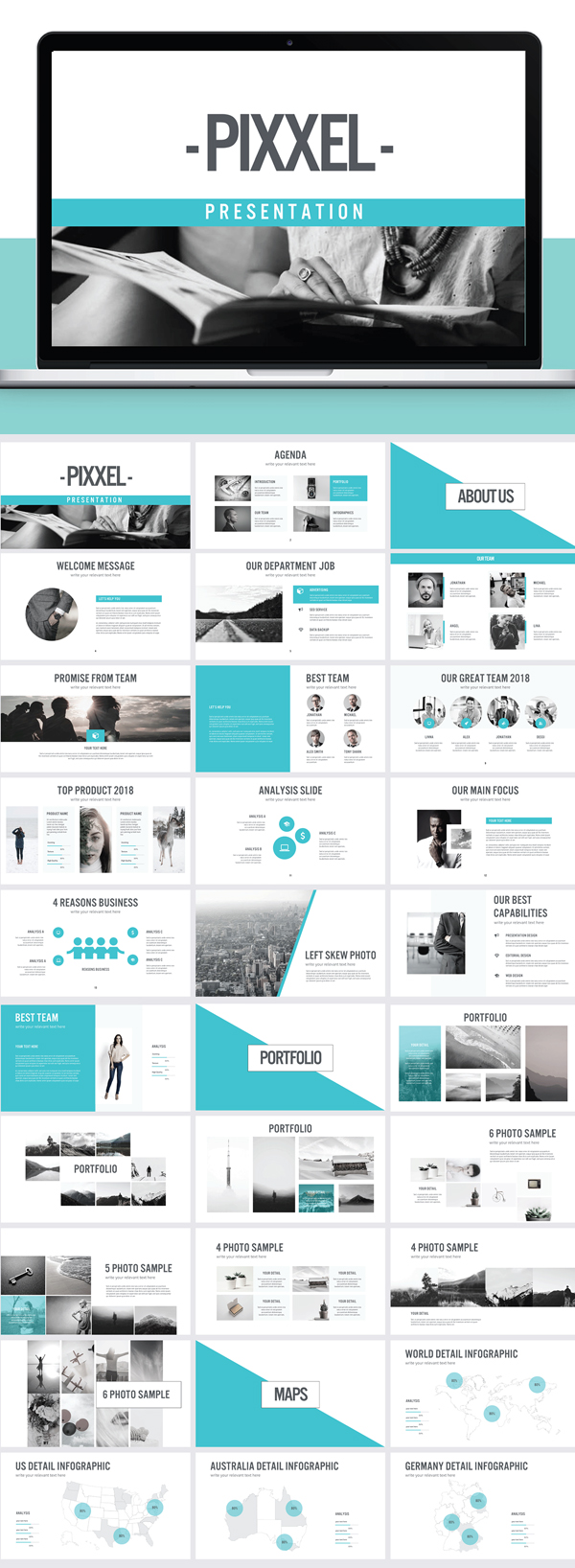 Freebie: Keynote Pixxel Presentation Template