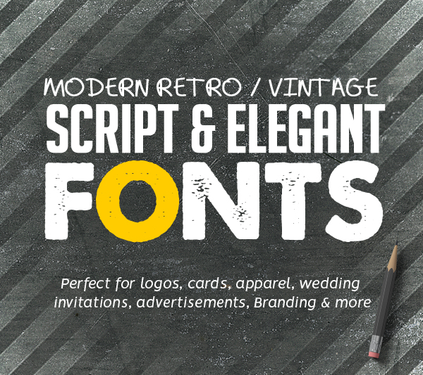 Best Retro / Vintage Script Fonts for Designers