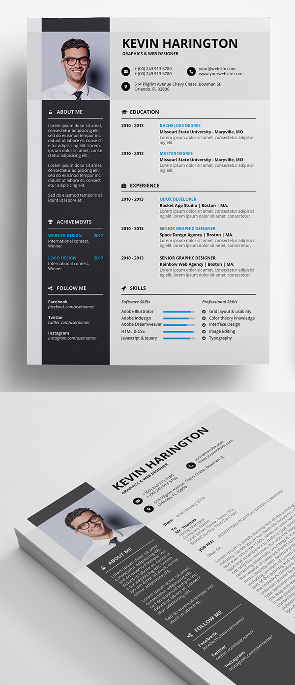 50 Free Resume Templates: Best Of 2018 -  4