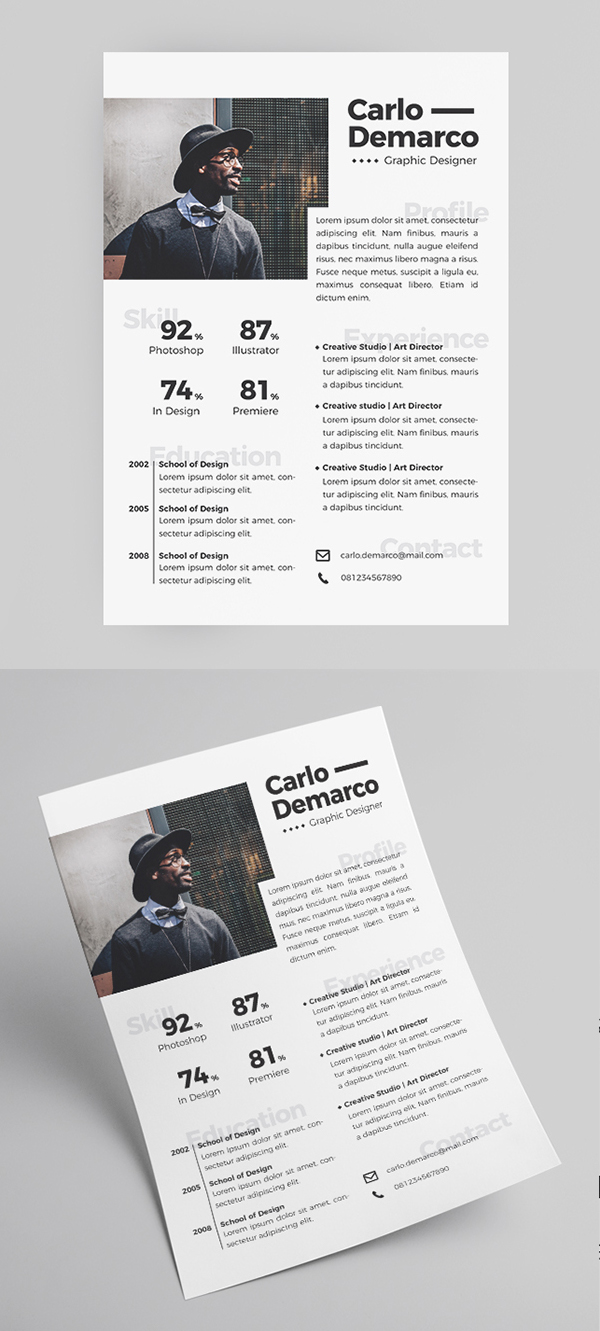 50 Free Resume Templates: Best Of 2018 -  26