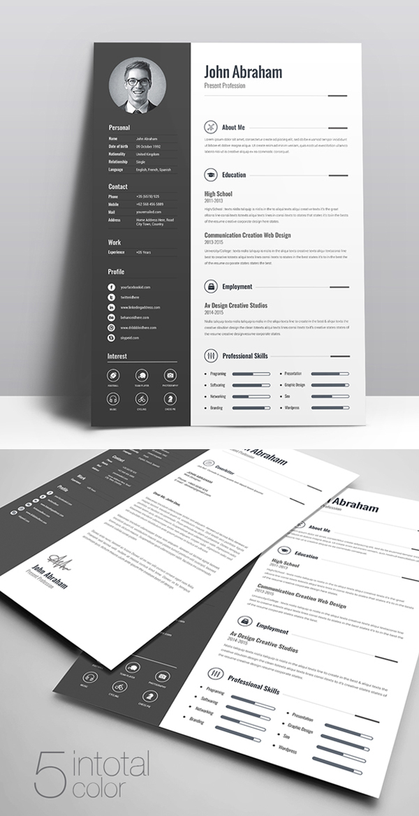 50 Free Resume Templates: Best Of 2018 -  2