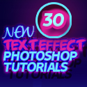 Post thumbnail of New Free Text Effect Photoshop Tutorials (30 Tuts)