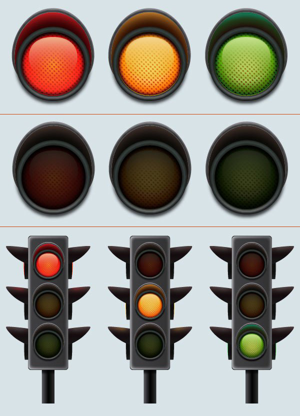 How to Create a Set of Traffic Lights in Adobe Illustrator