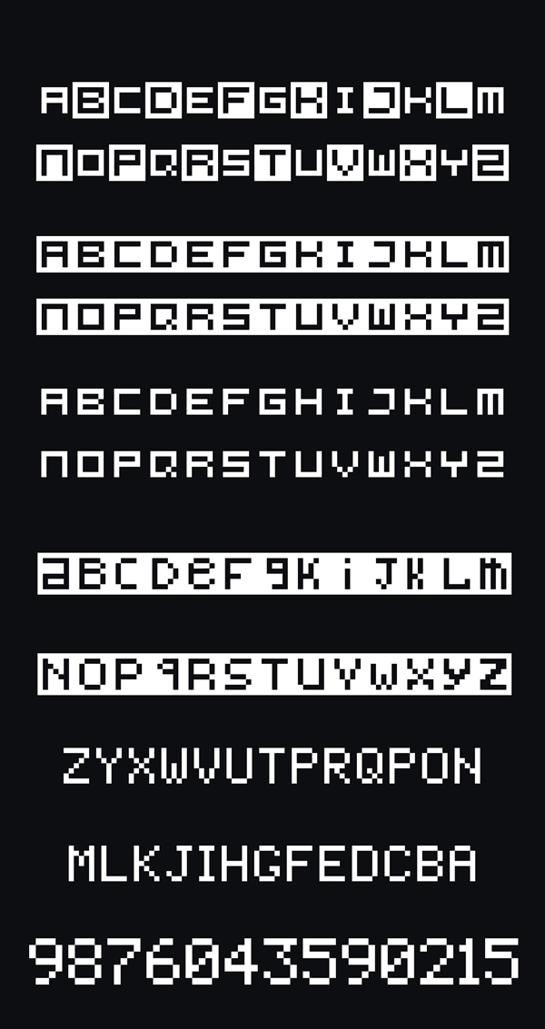 Pixel Pro Free Font Letters and Numbers