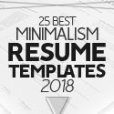 Post Thumbnail of 25 Best Minimalism Resume Templates 2018