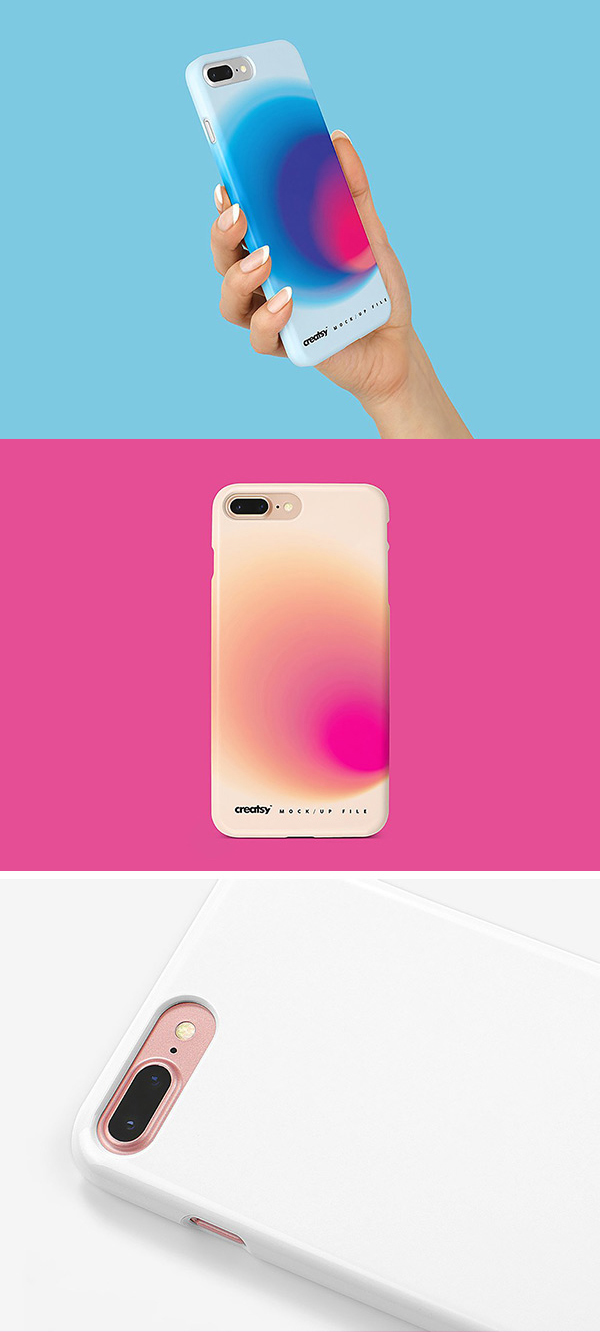 iPhone 8+ Case Mockup Download PSD
