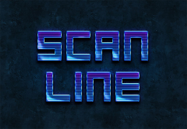 How to Create a Sci-Fi Scan-Line Text Effect in Adobe Photoshop