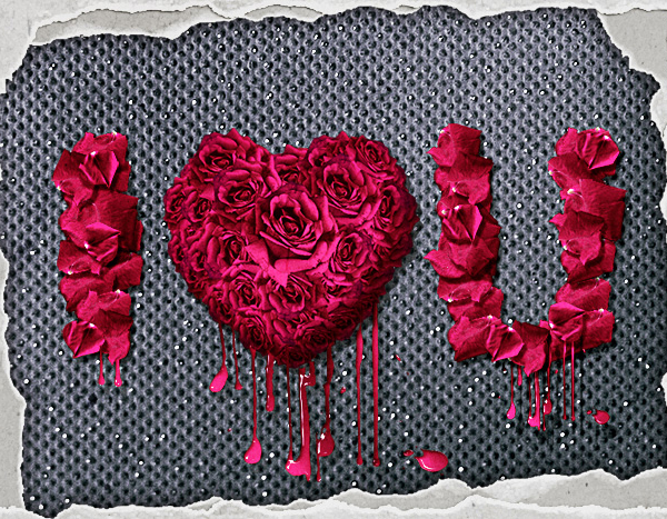 How to Create Rose Petals Floral Text Effect Photoshop Tutorial