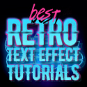 Post Thumbnail of Best 80's Retro Text Effect Photoshop Tutorials
