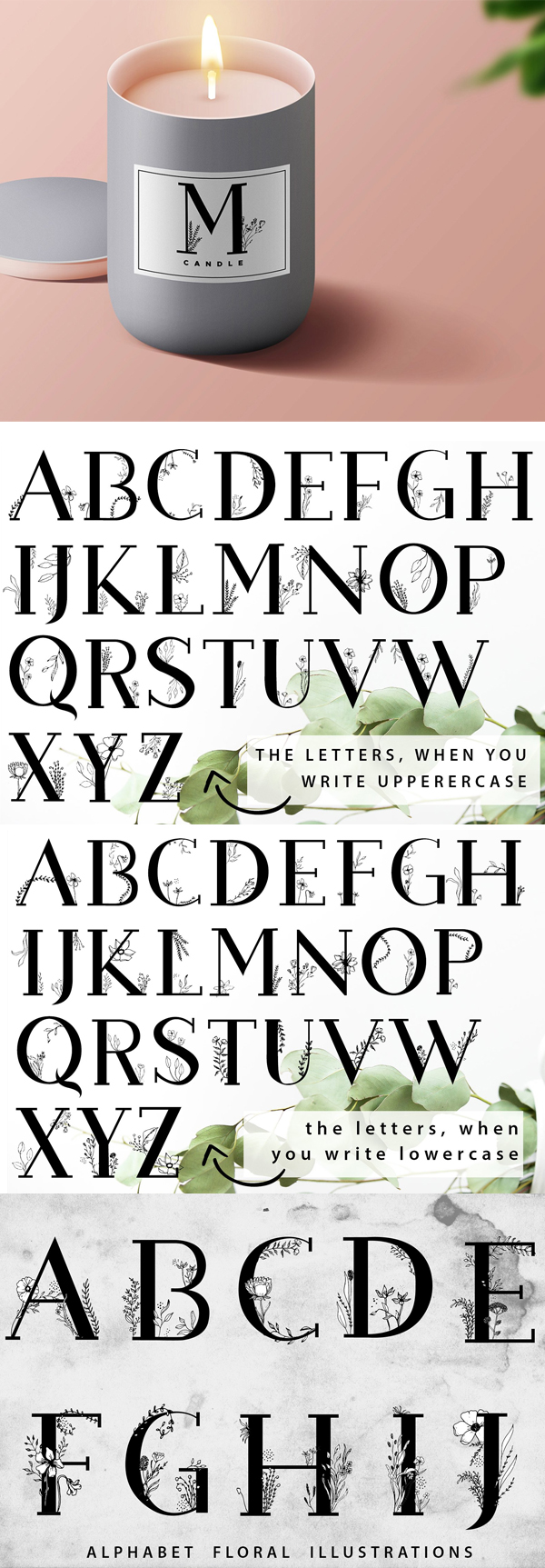 Blossom Font Letters