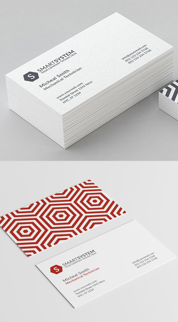Minimal Pattern Business Card Template