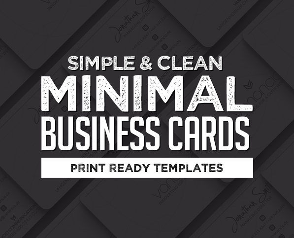 Simple and Clean Business Card Templates (23 Print Design)