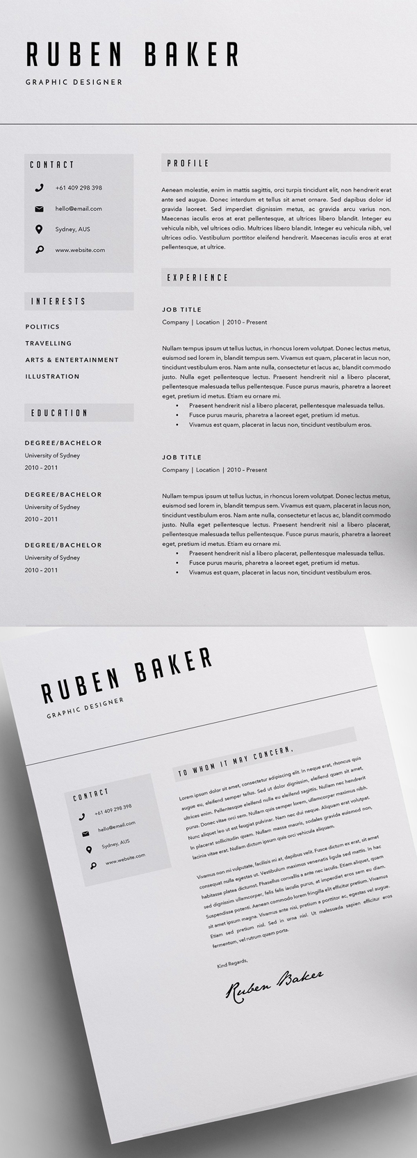 Resume Template (3 Page)