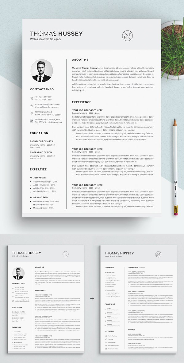 Resume / CV - (5 Pages)