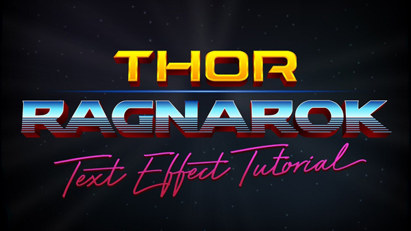 Thor: Ragnarok Logo Style Text Effect in Adobe Illustrator
