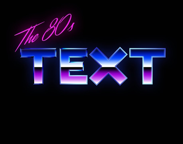 How To Make An Insane Looking 80's Text Effect In Photoshop