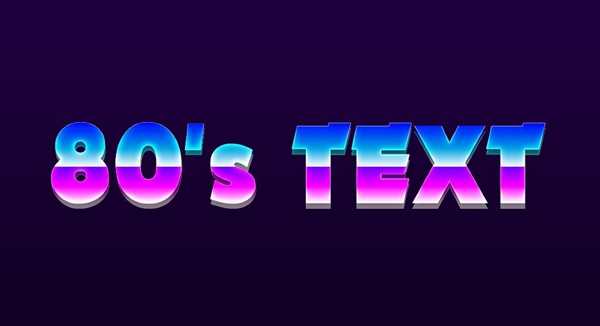 How To Make 80's Retro Text | Photoshop Touch Tutorial