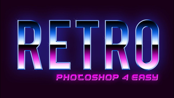 Retro Text Effect Adobe Photoshop Tutorial