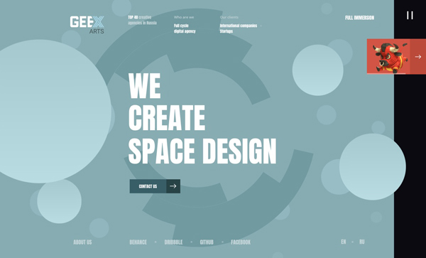 Web Design Agencies Websites – 27 Interactive Examples - 16