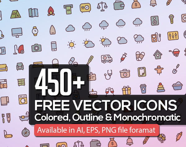 150+ Free Vector Icons for Web, iOS and Android Apps
