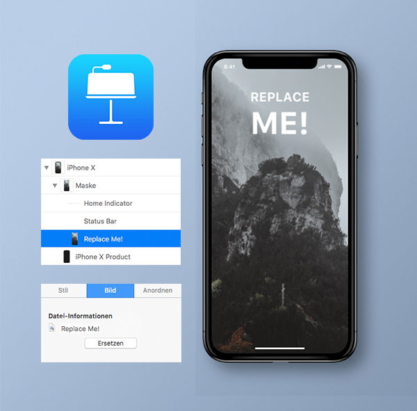 Free Realistic iPhone X Mockup for Keynote