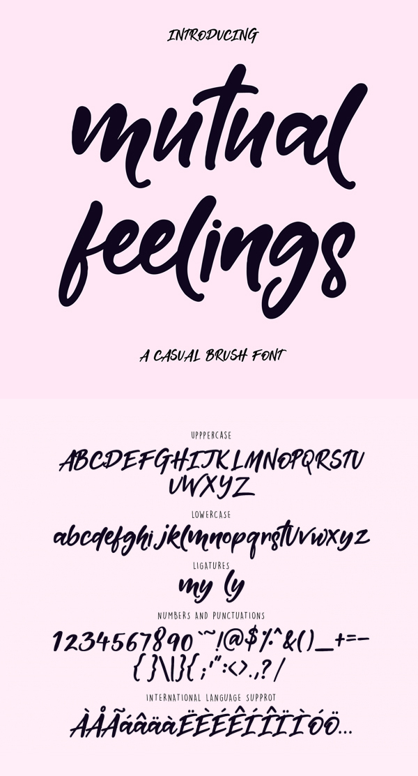 Mutual Feelings Free Brush Script Font