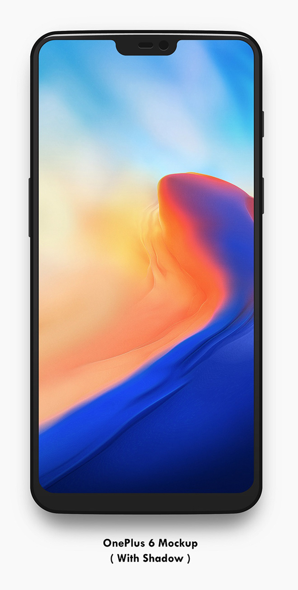 Free Download OnePlus 6 Vector Mockup [.svg .png]
