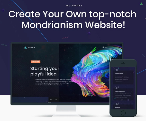 Visuelle - Creative Mondrianism Elementor WordPress Theme