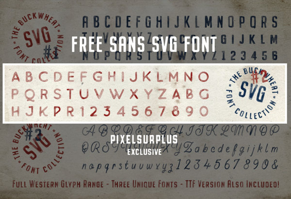Buckwheat SVG Font Letters