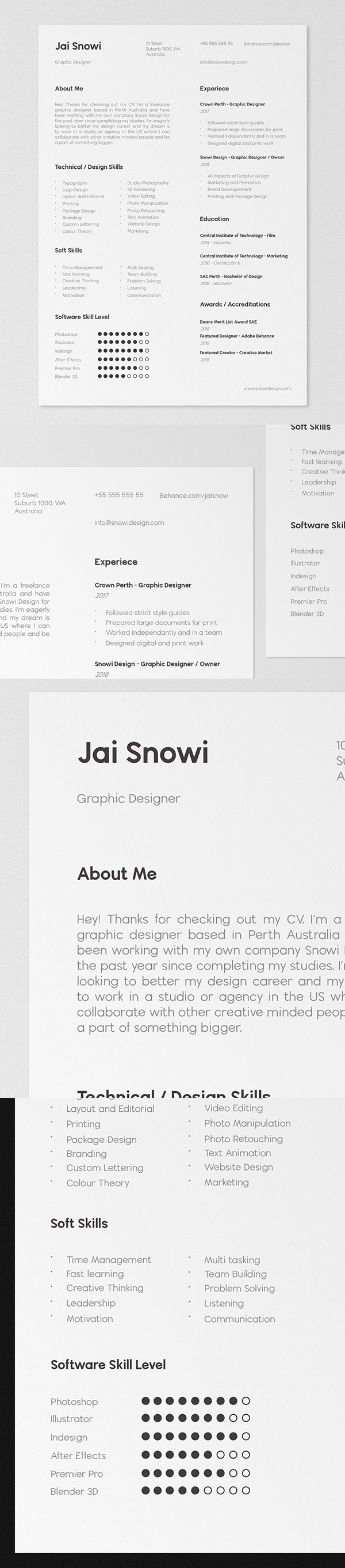 FREE - CV / Portfolio Template and Mockup Download